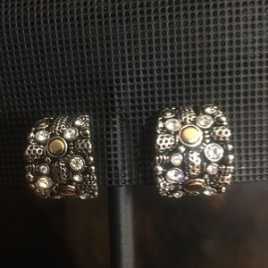Fashion Silver and Gold Clip on Earrings.
